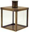 Kerzenhalter für Stabkerze mit Metalldeckel Glas Metall Gold Aufbewahrung Deko Tischdeko 10cm 1