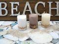 Kerzen Stumpenkerzen Weiß Creme Braun Seestern Maritim Deko Tischdeko 3 Stück 3