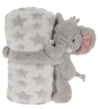 Plüschtier Kuscheltier Kuscheldecke Decke Schmusedecke Hase Elefant Hund Kinderzimmer Kinder
