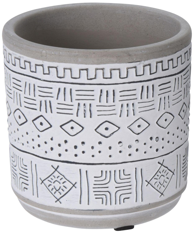 Blumentopf Keramik Beton Klein Blumen Übertopf Weiß Grau Schwarz Tischdeko Terrasse Deko Verschiedene Motive