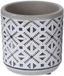 Blumentopf Keramik Beton Klein Blumen Übertopf Weiß Grau Schwarz Tischdeko Terrasse Deko Verschiedene Motive 4