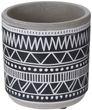 Blumentopf Keramik Beton Klein Blumen Übertopf Weiß Grau Schwarz Tischdeko Terrasse Deko Verschiedene Motive 5
