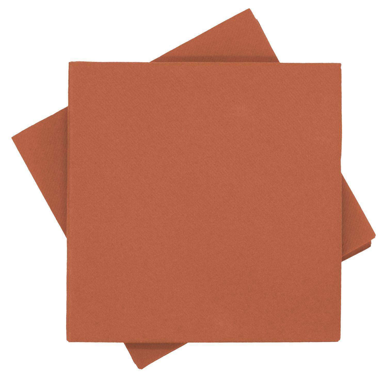 Servietten Tischdeko Rost Orange Terracotta Kommunion Konfirmation Hochzeit Party 40x40 cm 25 Stück