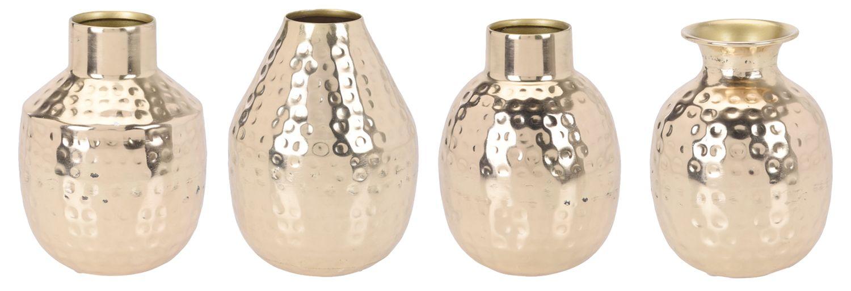 Vase Gold Metall Gehämmert Dekovase Orientalisch Blumenvase Tischdeko Deko