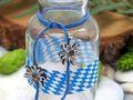 Vasen Oktoberfest Edelweiß Bayrisch Blau Tischdeko Deko Party Geburtstag 2 Stück 4