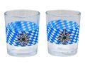 Teelichthalter Oktoberfest Edelweiß Bayrisch Raute Tischdeko Teelichtgläser Deko Party Geburtstag 2 Stück 1