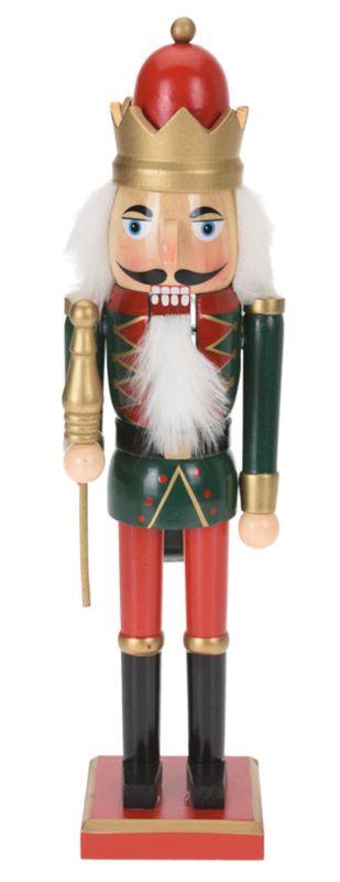 Nussknacker Holz Rot Grün Schwarz Gold 38cm Weihnachtsdeko Weihnachten Deko Figur
