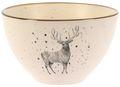 Müslischale Hirsch Tannenbaum Schale Servierschale Creme Schüssel Keramik Tischdeko Weihnachten 450ml 2
