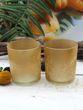 Teelichthalter Gelb Ocker Teelichtgläser Vintage Deko Tischdeko 2 Stück 4