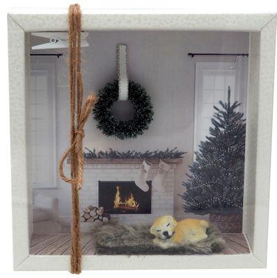 Geldgeschenk Verpackung Hund Weihnachten XMAS Gutschein Kamin Geschenk