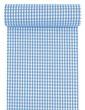 Tischläufer Tischband Stoff Kariert Vichy Karo Blau Weiß Oktoberfest Tischdeko Polyester 10m 1