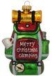 Christbaumschmuck Weihnachtsbaumschmuck Rucksack Camping Wandern Glas Ornament 11cm Weihnachten Deko Anhänger 1