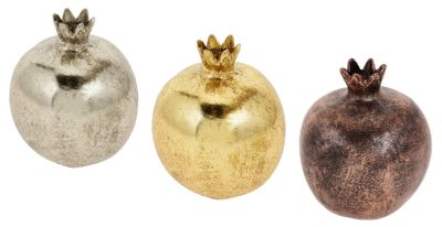 Deko Figur Granatapfel Apfel versch. Farben Ø 9cm Polyresin Tischdeko Dekoration Herbst Winter