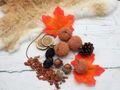 Tischdeko Herbst Deko Herbstdeko Tischdeko Kerze Kürbis Orange Braun Holz Natur 4