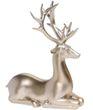 Dekofigur Rentier Hirsch Liegend Gold Advent Weihnachten Deko Polyresin 21cm  4