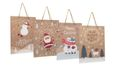 Geschenktasche Kraftpapier Geschenkverpackung Weihnachten Tüte Deko Mittel 4 Stück 1