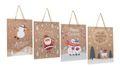 Geschenktasche Kraftpapier Geschenkverpackung Weihnachten Deko Mittel 4 Stück 2