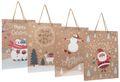 Geschenktasche Kraftpapier Geschenkverpackung Weihnachten Tüte Deko Groß 4 Stück 1