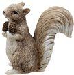 Deko Eichhörnchen Figur mit Zapfen Braun Creme Herbst Weihnachten Winterdeko 10cm 2