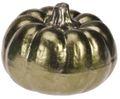 Deko Figur Kürbis Metallic Herbstdeko Herbst Tischdeko Keramik 7cm Klein 4