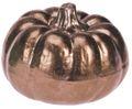 Deko Figur Kürbis Metallic Herbstdeko Herbst Tischdeko Keramik 7cm Klein 3