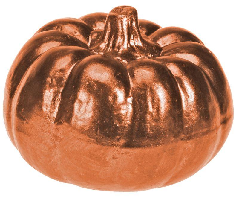 Deko Figur Kürbis Metallic Herbstdeko Herbst Tischdeko Keramik 7cm Klein