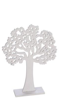 Holzaufsteller Baum des Lebens Weiß Deko Lebensbaum Kommunion Konfirmation 21cm Mittel
