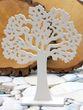Holzaufsteller Baum des Lebens Weiß Deko Lebensbaum Kommunion Konfirmation 21cm Mittel 2