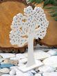 Holzaufsteller Baum des Lebens Weiß Deko Lebensbaum Kommunion Konfirmation 21cm Mittel 3