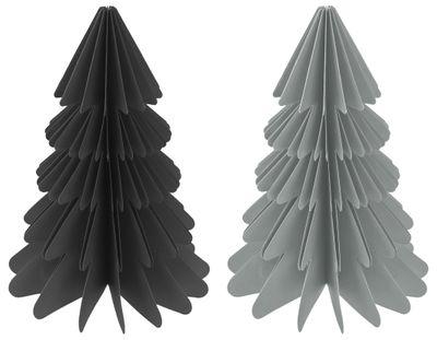 Weihnachtsbaum Papierbaum Schwarz Grau Tannenbaum Weihnachtsdeko Deko 30cm Groß
