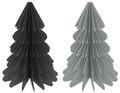 Weihnachtsbaum Papierbaum Schwarz Grau Tannenbaum Weihnachtsdeko Deko 30cm Groß 1