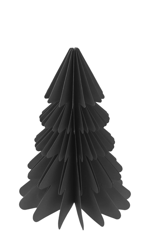 Weihnachtsbaum Papierbaum Schwarz Grau Tannenbaum Weihnachtsdeko Deko 23cm Klein