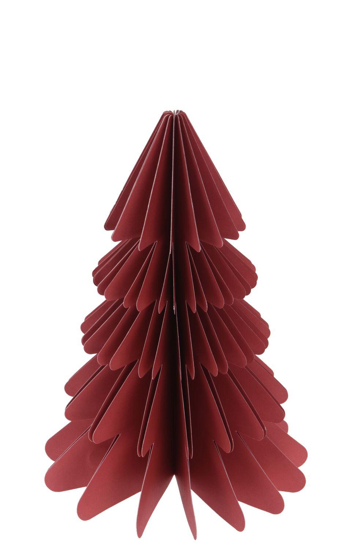 Weihnachtsbaum Papierbaum Mauve Beere Rot Tannenbaum Weihnachtsdeko Deko 23cm Klein