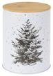 Keksdose Weihnachten Baum Vorratsdose Weiß Weihnachtsplätzchen Vorratsbehälter mit Deckel Weihnachtsdeko 3