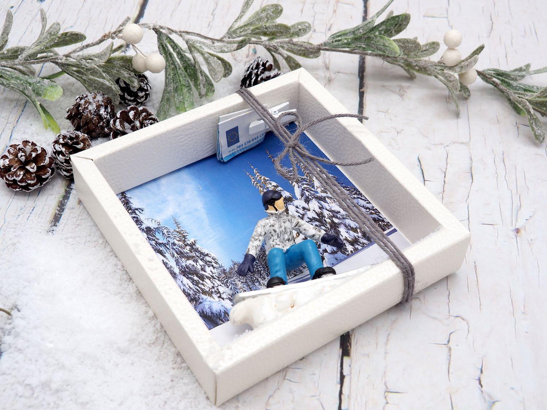 Snowboarder Geldgeschenkverpackung Gutschein Winterurlaub Geschenk Geld
