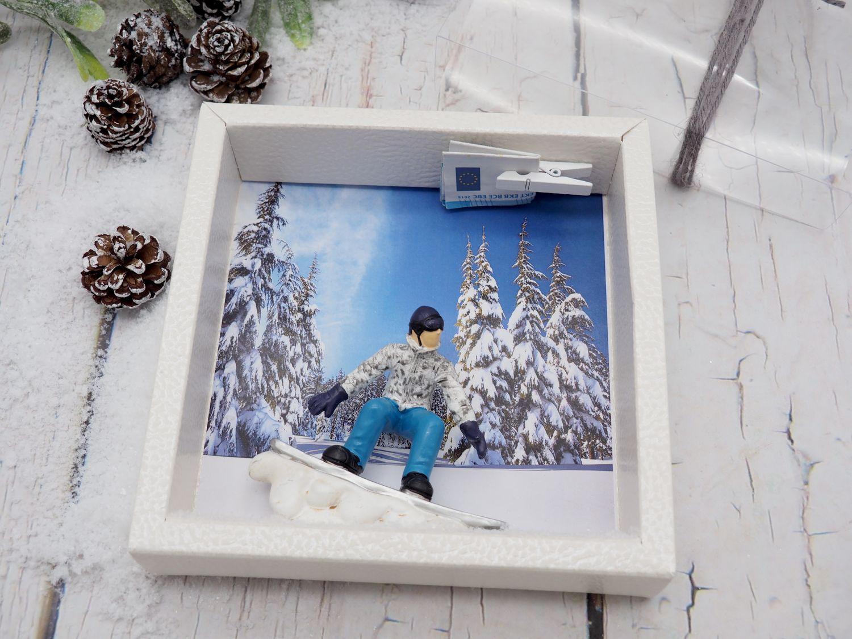 Geldgeschenkverpackung Snowboarder Geldgeschenk Verpackung Winterurlaub Geschenk Gutschein