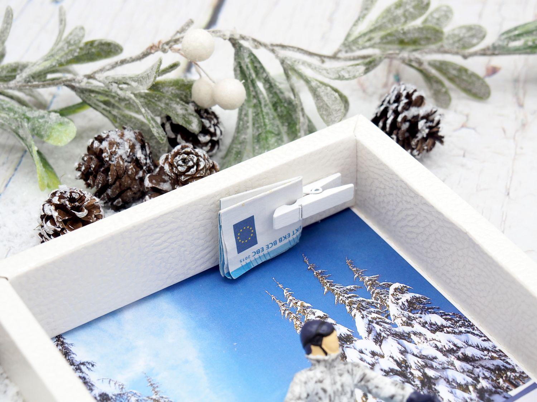 Gutschein Snowboard Geldgeschenkverpackung Winterurlaub Zuschuss Geldgeschenk