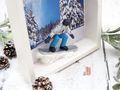 Geldgeschenk Weihnachten Winterurlaub Snowboarder Geldgeschenkverpackung Geld Gutschein 5
