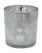 Teelichtglas in Grau mit weihnachtlichem Motiv als Weihnachtsdeko 3