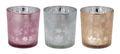 Kerzenhalter Teelichthalter Rose Braun Silber Schneeflocke Tischdeko Weihnachtsdeko 1