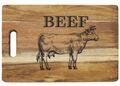 Servierbrett aus Holz für Steaks oder als Schneidebrett für einen Grillabend 4
