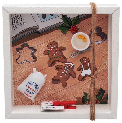 Geldgeschenk Verpackung Weihnachten Backen Mehl Rührschüssel Gutschein Geschenk 16,5cm