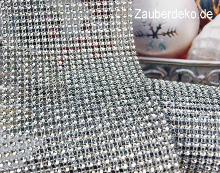 2m 12cm Strassband Silber Tischband Basteln Weihnachten Hochzeit Karneval
