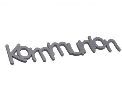 Kommunion Acryl Silber Schriftzug