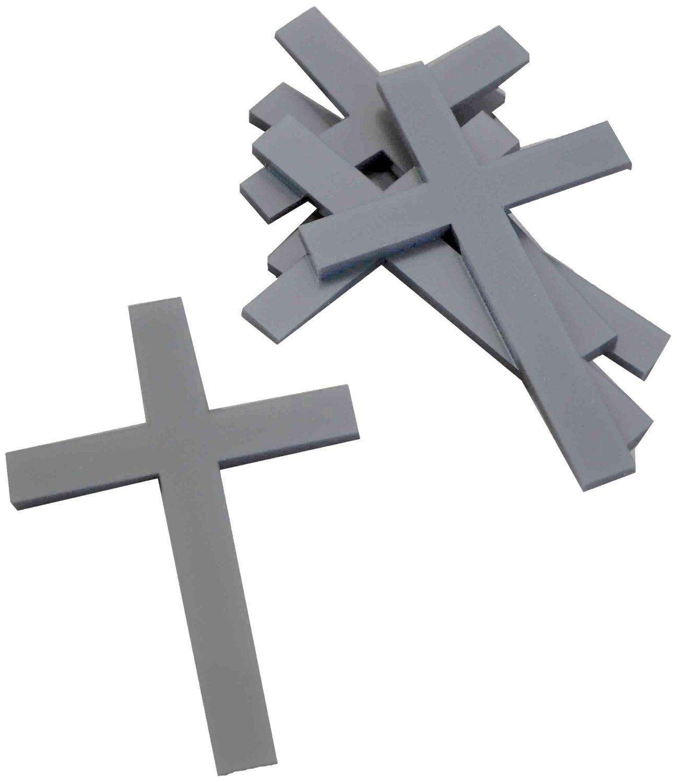 10 St. Kreuz Silber Streudeko Tischdeko Kommunion Konfirmation Taufe Basteln Acryl
