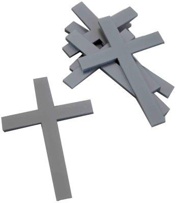 10 St. Kreuz Silber Streudeko Tischdeko Kommunion Konfirmation Taufe Basteln