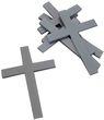 10 St. Kreuz Silber Streudeko Tischdeko Kommunion Konfirmation Taufe Basteln Acryl 1