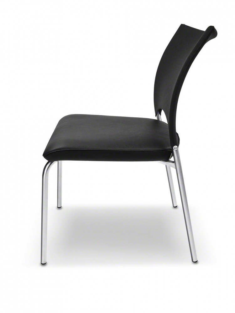 ronald schmitt vierfu stuhl sento rst 160 leder strick. Black Bedroom Furniture Sets. Home Design Ideas