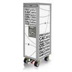 Designtrolleys Flugzeugtrolley / New Half-Size Trolley / Flightplan weiß