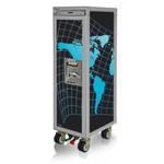 Designtrolleys Flugzeugtrolley / New Half-Size Trolley / World schwarz